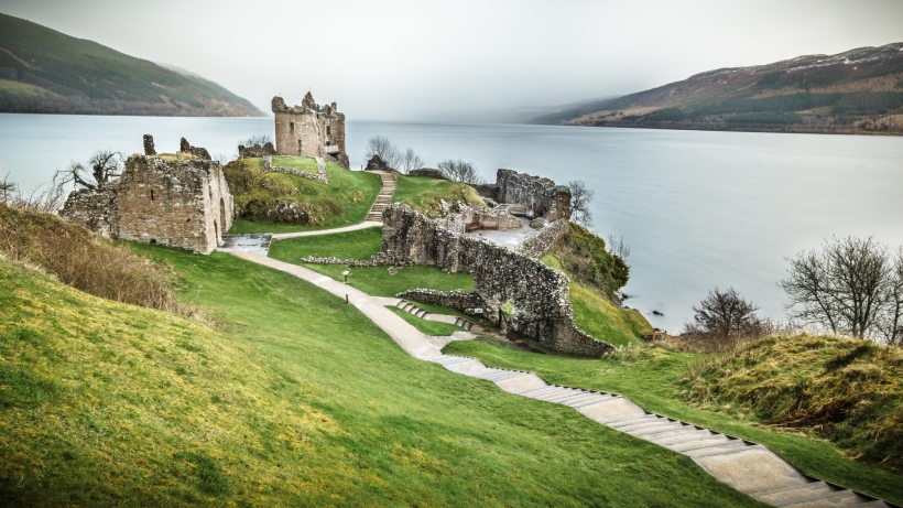 Urquhart Castle, Loch Ness, Inverness, Scotland, United Kingdom