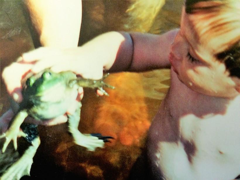Jaden and frog
