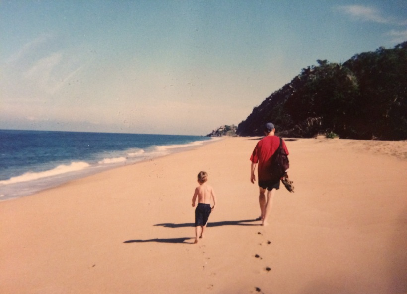 john-and-jaden-walking-to-san-pancho