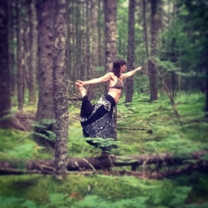dancer on the fallen tree