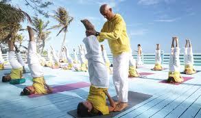 yoga at ashram