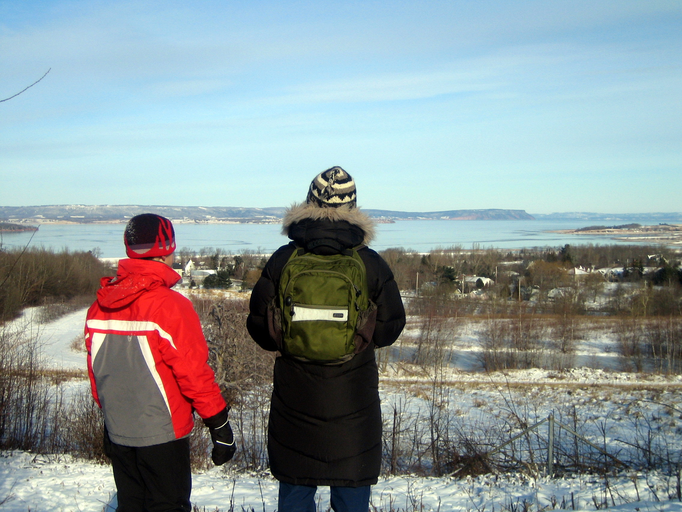 hiking on Wolfville trails, from our door