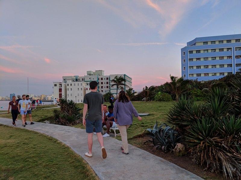 walking in Havana with J