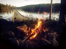 campfire and canoe